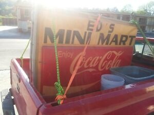 Vintage Coca-Cola hanging light, double-sidedoutside electric collectable