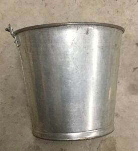 Vintage Stainless Milk Pail bucket