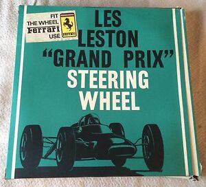 Les Leston Grand Prix Steering Wheel 15 4 60s 70s Nos Walsall Wheels Ferrari
