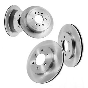 Front And Rear Premium Oe Brake Rotors Fits 2006 2009 Nissan Patrol
