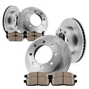Front 363mm And Rear 363mm Brake Disc Rotors Ceramic Pads For Ford F250 F350