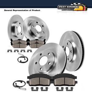 Front Rear Oe Disc Brake Rotors Ceramic Pads For Mercedes Benz C250 C300