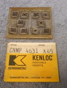 Kennametal Carbide Inserts Cnmp 4631 Grade K45 Pack Of 10