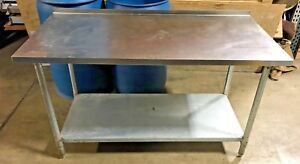 Stainless Steel Prep Table Heavy Duty Commercial Table 60 W X 30 D