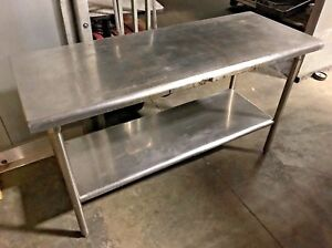 Stainless Steel Prep Table Commercial Table Heavy Duty 60 W X 24 D