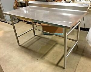 Amtekco Stainless Steel Prep Table Commercial Kitchen Table 60 W