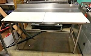 Amtekco Stainless Steel Prep Table Poly Cutting Surface 60 W