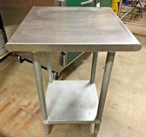 Advance Tabco Stainless Steel Prep Table Commercial Kitchen Table 24 X 24