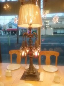 Antique Moroccan Gothic Medieval Style Table Lamp 4 Hanging Lights Local Pick Up