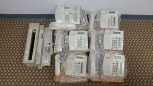 Nortel Cics 7 1 4x16 Bundle W 1x T7316e Platinum 5x T7208 Platinum Phones