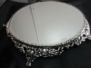 Antique Pairpoint Mfg Co Quadruple Silver Plate Plateau Mirror Signed Numbered