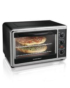 20 Black Rotisserie Convection Pizza Chicken Roast Bake Countertop Toaster Oven
