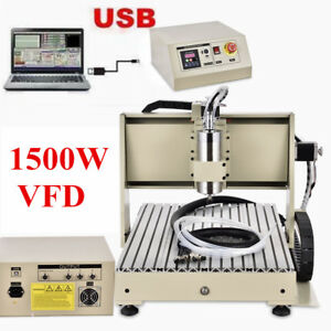 Usb Port 6040z 1 5kw 3 Axis Router Engraver Milling Carving Machine Metal Cutter