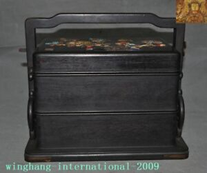 China Redwood Wood Turquoise Lapis Lazuli Shell Flower Butterfly Food Box Boxes