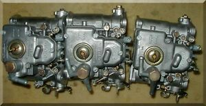 Weber 40 Dcom Side Draft Carbs A Triple Set