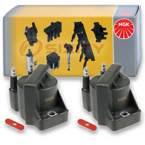 2 Pcs Ngk Ignition Coil For 1996 2000 Isuzu Hombre 2 2l L4 Spark Plug Tune Ll