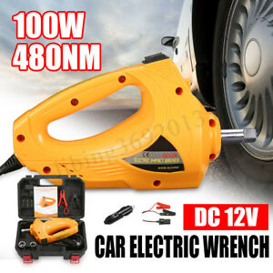 100w 1 2 12v Electric Impact Wrench Car Torque Driver Tools 480nm With