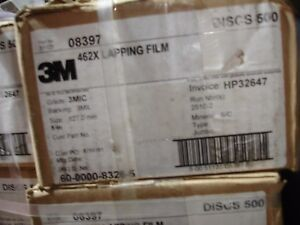Case Of 500 3m 462x Lapping Film 5 3mic 60 0000 8326 5