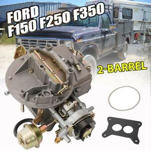 2 Barrel Carburetor Carb 2100 For Ford F150 F250 F350 Mustang Jeep Wagoneer Usa