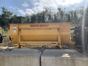 Skid Steer Concrete Mixer Auger Bucket Attachment Like New