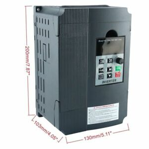 2 2kw 220v 3hp Single Phase Drive Inverter To Variable Frequency Converter 12a