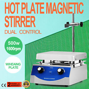Sh 3 Hot Plate Magnetic Stirrer Mixer Stirring Digital Display 500w 60hz 1600rpm