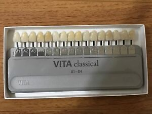 Classical Vita Shade Guide With Attached Bleached Extension 19 Colors A1 d4