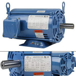 5 Hp 3 Phase Electric Motor 1800 Rpm 184t Frame Odp Open Drip Proof 230 460v