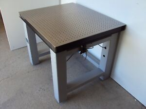 Tested Newport Optical Breadboard Table Self Level Vibration Isolation Bench Lab