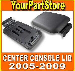 Front Center Armrest Console Lid Cover Assembly W Latch For 2005 2009 Mustang