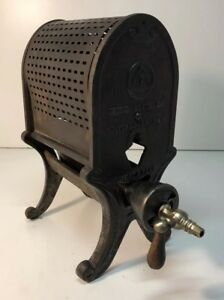 Antique Vintage 1920 S Tobias Heater Co Radiant Gas Heater Cast Iron 12 Tall