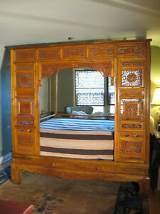A Carved Camphor Wood Chinese Wedding Bed From 1800 S