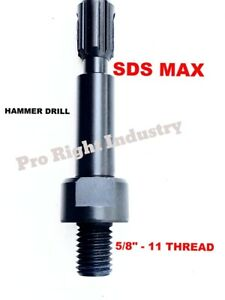 Core Bit Adapter 5 8 11 Threaded Male To Sds max Shank For Hilti Hammer Drill