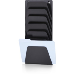 Officemate Wall File Holder Letter legal 7 Pockets Black 21505 Pack Of 1