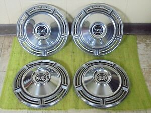 1968 Chevrolet Ss 396 Hub Caps 14 Set Of 4 Chevy Wheel Covers 68 Hubcaps