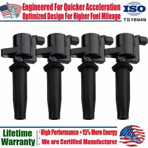 Ignition Coil Pack Of 4 For Ford Focus Mazda Tribute 2 0l 2 3l Dg541 Dg507 Fd505