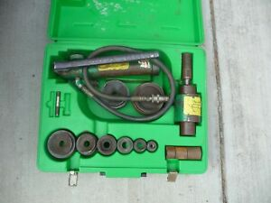 Greenlee 7306 Slug Buster Knockout Punch And Hydraulic Driver Set 1 2 To 3 1 2