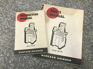 Do All Dh 612 Surface Grinder Original Instruction Parts Manuals Doall