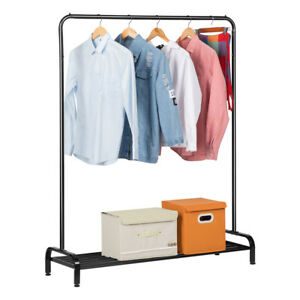 Commercial Garment Rack Heavy Duty Clothes Hanger Rail Shelf Shoes Boots Storage