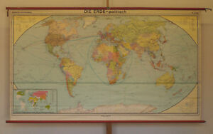 Wall Map Beautiful Old Political World 96 7 8x55 7 8in Vintage 1980 1992