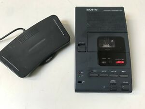 Sony M 2000 Microcassette Transcriber With Foot Control Unit Fs 80