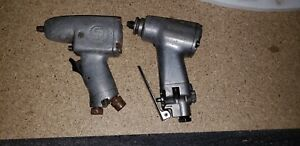 Lot Of 2 Blue Point snap on Cp Chicago Pneumatic Impact Gun Wrench For Parts 3 8