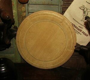 Antique Vtg 11 Carved Wood Bread Cheese Chopping Cutting Board Great Xmas Gift