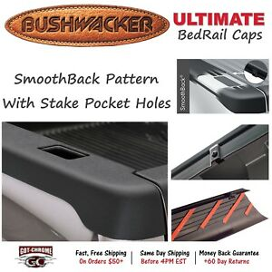 58512 Bushwacker Ultimate Black Bed Rail Caps Dodge Ram 6 4 Bed 2002 2008