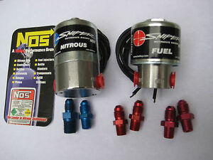 Nos nx zex holley Sniper Cheater Nitrous fuel Solenoids 250hp W fittings new