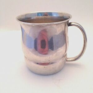 Vintage Towle 10792 Sterling Silver Baby Infant Cup With Monogram 69grams