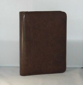 Classic Brown Sim Leather Day Planner binder By Day timer 1