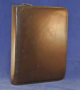 1 5 Rings Classic Leather Franklin Quest covey Binder Brown