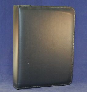 1 6 Rings Navy Blue Classic Vinyl Day Planner Binder fits Franklin Covey Acc