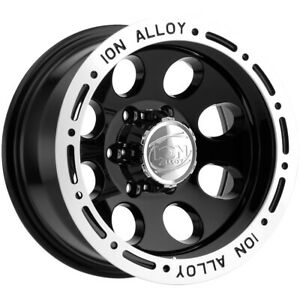 4 New 16 Inch Ion 174 16x10 6x139 7 6x5 5 38mm Black Wheels Rims